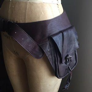Artisan Handmade Leather Saddle Belt Festival